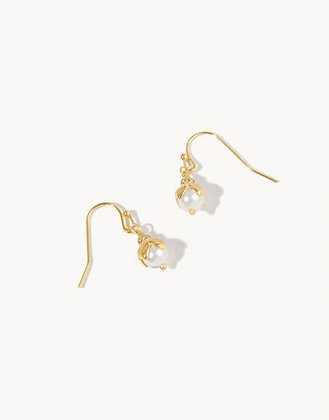 Delicate Bead Drop Earrings