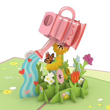 Watering Can 3D Card