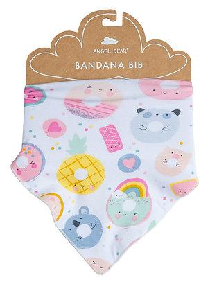 Bandana Bib in Donut Smiles