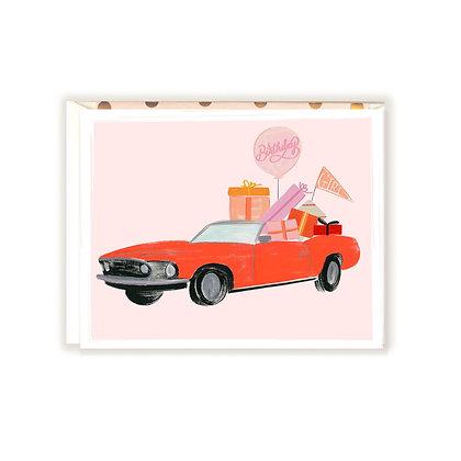 Birthday Girl Mustang Card