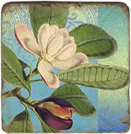 Single Marble Coaster- Magnolias 1