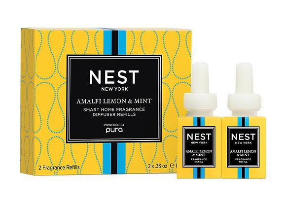Amalfi Lemon & Mint Refill Pura Smart Home Fragrance Diffuser