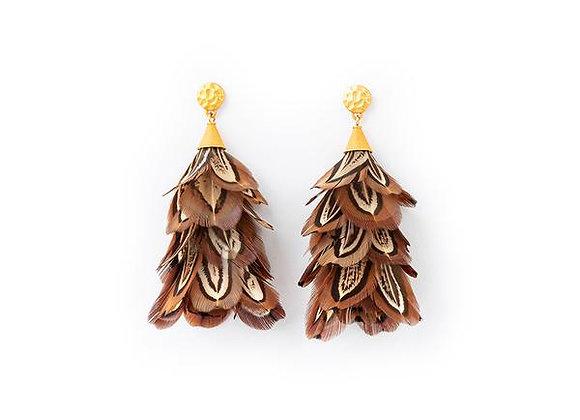 Marjan Feather Statement Earrings