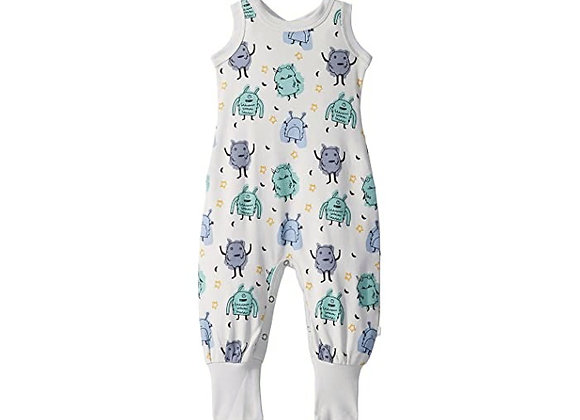 Organic Cotton Jumpsuit in Monsters