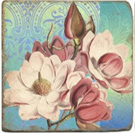 Single Marble Coaster- Magnolias 3