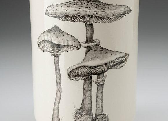 Parasol Mushroom Utensil Cup by Laura Zindel