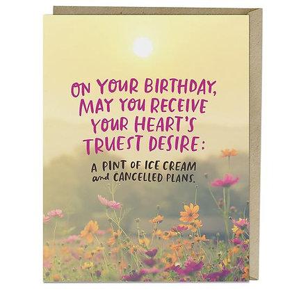 Heart's Desire Birthday Card