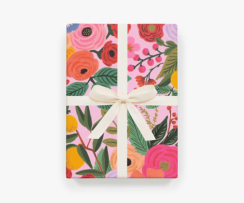 Pink Garden Party Wrapping Paper Sheets