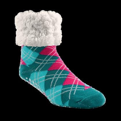 Argyle Harbor- Adult Slipper Socks