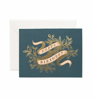 Gold Foil Banner Birthday Card