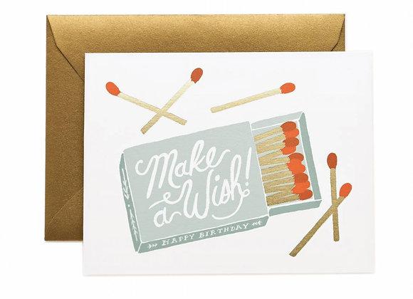 Make A Wish Birthday Matches Card