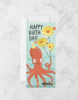 Octopus Birthday No. 10 Card