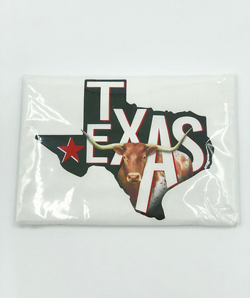 Texas with Longhorn Single Flour Sack Towel