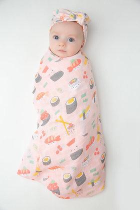 Sushi Pink Swaddle Blanket