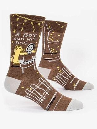 A Boy & His Dog Men's Crew Socks