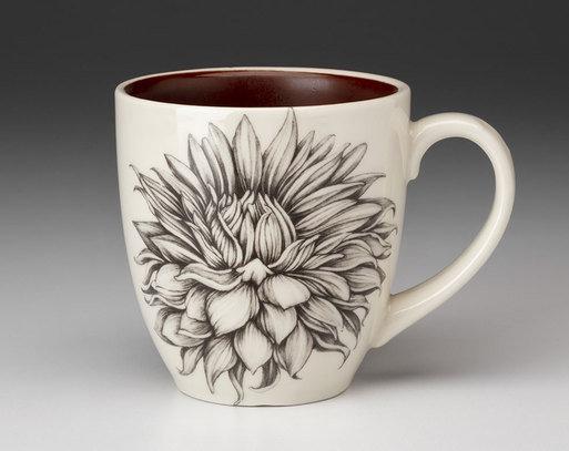 Cactus Dahlia Mug by Laura Zindel