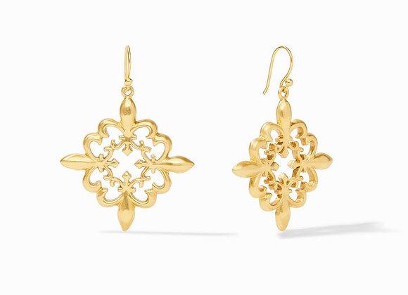 Fleur-de-Lis Lace Earring