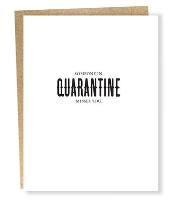 Quarantine Misses Card