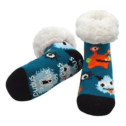 Blue Monsters- Kids Classic Slipper Socks