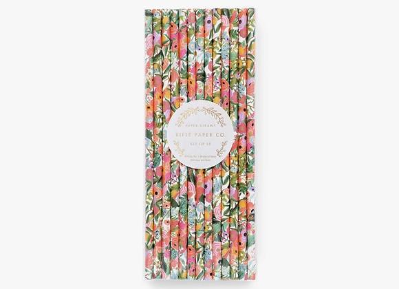 25 Garden Party Paper Straws
