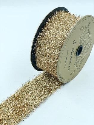 Metallic Gold Tinsel Ribbon Roll