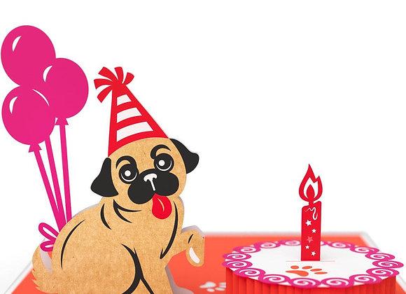 Pug Cake Smash 3D Card