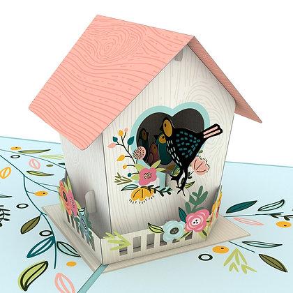 Birdhouse Pop Up Card