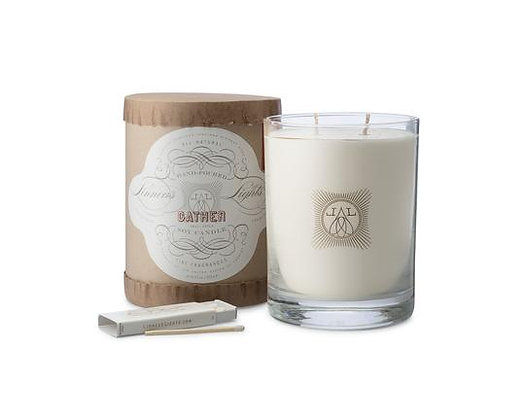 Gather- Linnea's Lights  2-wick Candle