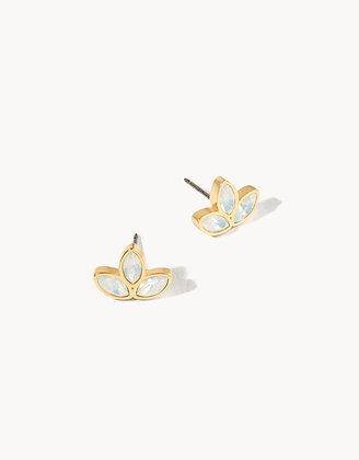 Delicate Leaf Stud Earrings