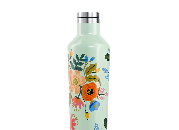 Mint Lively Floral 16oz Canteen