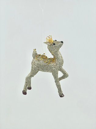 Glitter Deer Standing Champagne and Gold