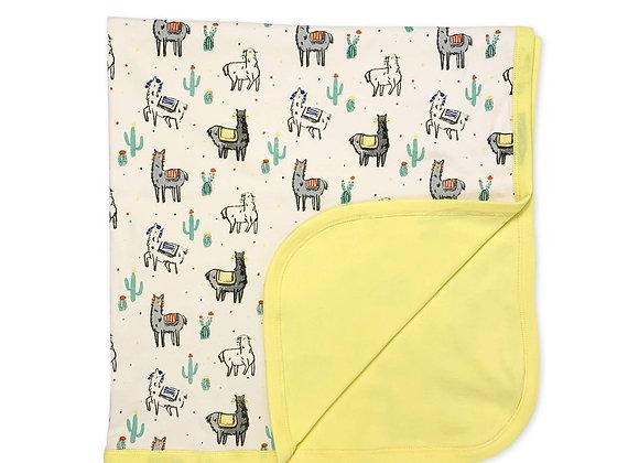 Llamas Organic Cotton Blanket