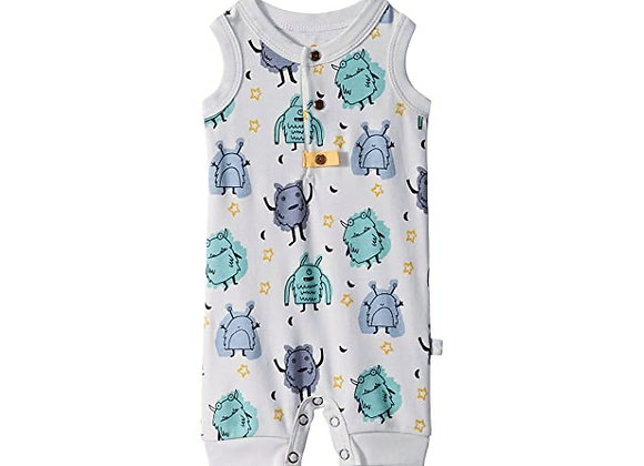 Organic Cotton Tank Romper in Monsters