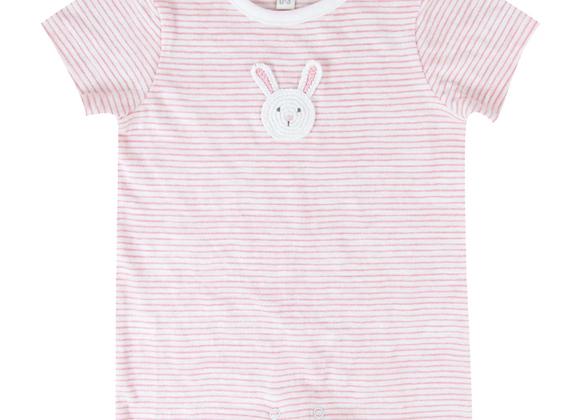 Baby Bunny Pink Stripe Romper