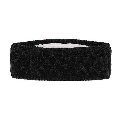 Black Cable Knit Headband