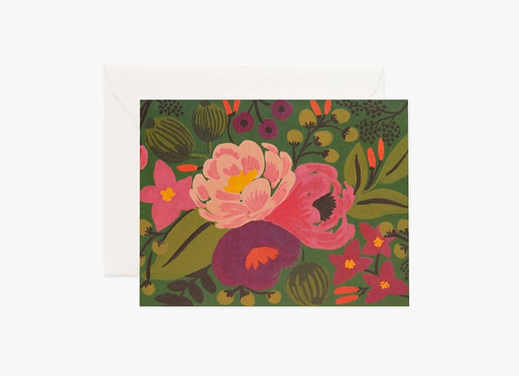 Vintage Blossoms Green Everyday Card