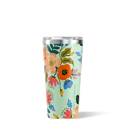 Mint Lively Floral 16oz Tumbler