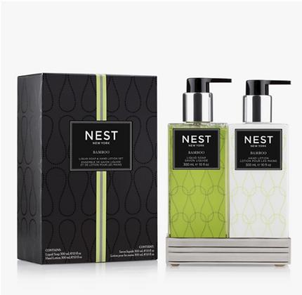 Bamboo Soap & Lotion Set
