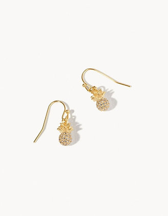 Delicate Sparkly Pineapple Drop Earrings
