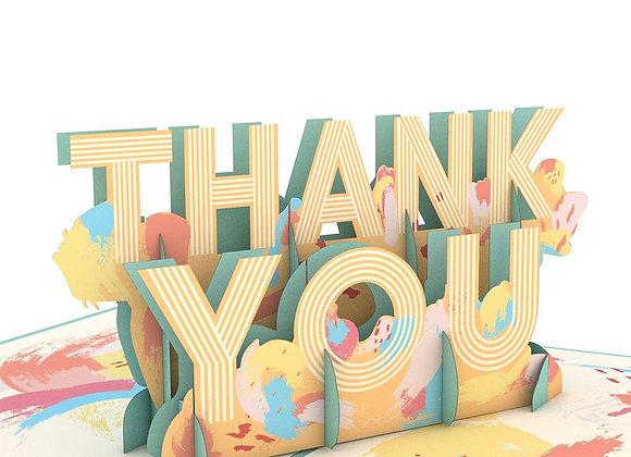 Artistic Thank You 3D Card