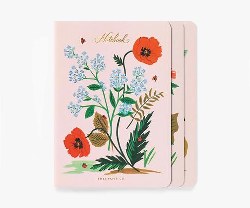 Botanical Stitched Notebook Set of 3