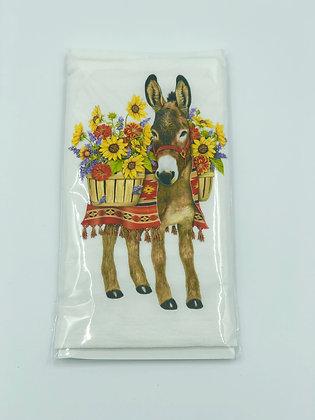 Flower Fiesta Donkey Single Flour Sack Towel