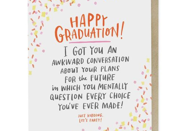 Awkward Convo Graduation Card