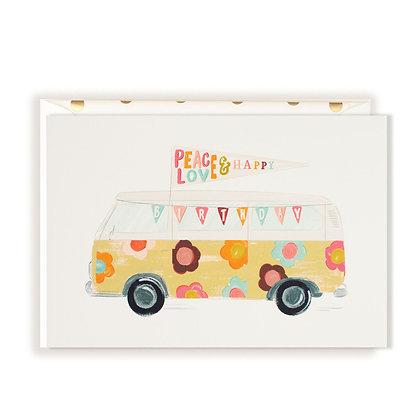 Floral Happy Birthday Bus Card