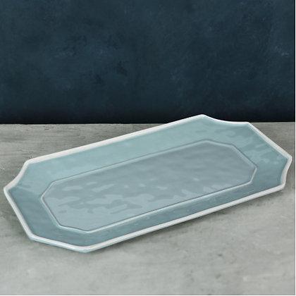 Blue Long Rectangular Platter - VIDA Charleston
