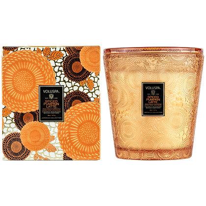 Spiced Pumpkin Latte 3- Wick Hearth Candle