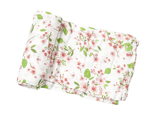 Swaddle Blanket in Cherry Blossom