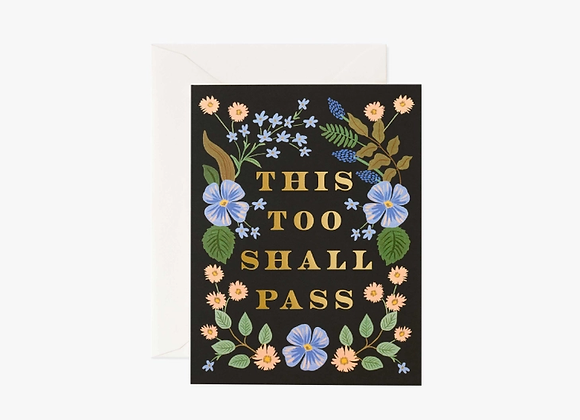 This Too Shall Pass Encouragement Card