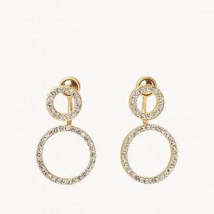 Double Ring Ear Jacket Earrings