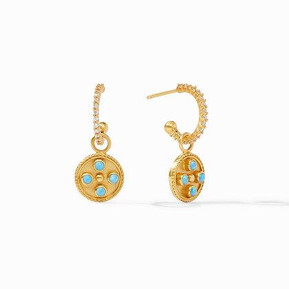 Paris Hoop & Charm Earrings